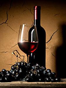 Fotos Wein Weintraube Wände Weinglas Flaschen