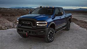 Hintergrundbilder Dodge Pick-up Blau 2019 Ram 2500 Power Wagon Crew Cab