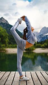 Hintergrundbilder Fitness Gymnastik Körperliche Aktivität Bein junge Frauen Sport