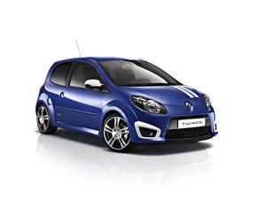 Hintergrundbilder Renault Blau Metallisch Weißer hintergrund  auto