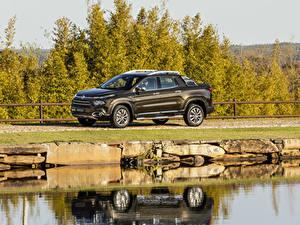 Hintergrundbilder Fiat Braun Pick-up Metallisch 2018-19 Toro Ranch Autos