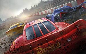 Fonds d'écran Cars 3 Rouge Arrière Lightning McQueen, Cruz RamireJackson Stormz