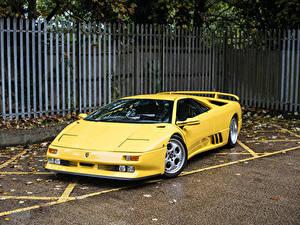 Hintergrundbilder Lamborghini Retro Gelb 1994-95 Diablo SE30