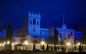 Fotos Vereinigte Staaten Park Gebäude San Diego Nacht Straßenlaterne Lichterkette Balboa Park Städte