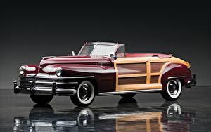 Wallpaper Chrysler Retro Cabriolet 1946 Town auto