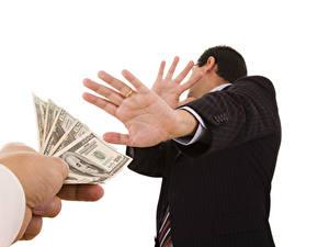Bilder Geld Papiergeld Weißer hintergrund Hand