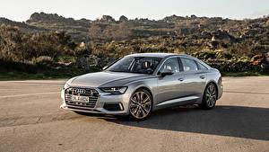Fotos Audi Metallisch Silber Farbe 2018 A6 50 TDI quattro Worldwide Autos