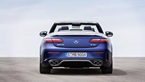 Hintergrundbilder Mercedes-Benz Cabriolet Blau Metallisch Hinten E 53 4MATIC, Cabrio Worldwide, A238, 2020