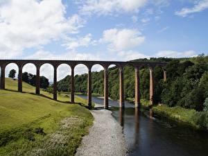 Fotos Schottland Flusse Brücke Glenfinnan Viaduct Natur