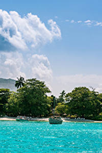 Hintergrundbilder Tropen Küste Meer Himmel Wolke Mahe island Seychelles Natur