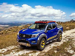 Hintergrundbilder Nissan Fahrzeugtuning Pick-up Blau 2018-19 Frontier Sentinel Autos
