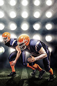 Hintergrundbilder American Football Zwei Uniform Helm Sport