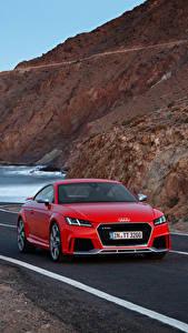 Papel de Parede Desktop Audi Vermelho 2016 TT RS Roadster (8S) carro