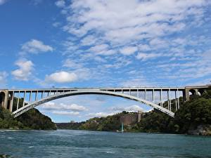Picture Bridges Rivers Canada Sky Niagara river Nature
