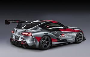 Hintergrundbilder Toyota Graue Coupe GR Supra Track Concept, 2020 auto