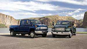 Hintergrundbilder Chevrolet GMC 2 Pick-up TopKick C4500, Kodiak C4500 Autos