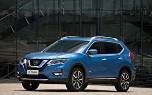 Bilder Nissan Hellblau Hybrid Autos Metallisch 2019 X-Trail Hybrid Latam auto
