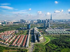 Bilder Vietnam Gebäude Wege Von oben Ho Chi Minh Städte