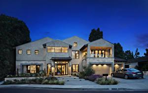 Bilder Vereinigte Staaten Haus Abend Herrenhaus Design Garage Newport Beach Städte