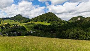 Bilder Gebirge Wald Schweiz Landschaftsfotografie Gras Canton of Basel-Landschaft
