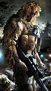 Bilder Sniper Scharfschützengewehr Scharfschütze Tarnung Ghost Warrior 2
