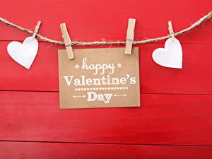 Papéis de parede Dia dos Namorados Fundo vermelho Inglês Coração Prendedor de roupas