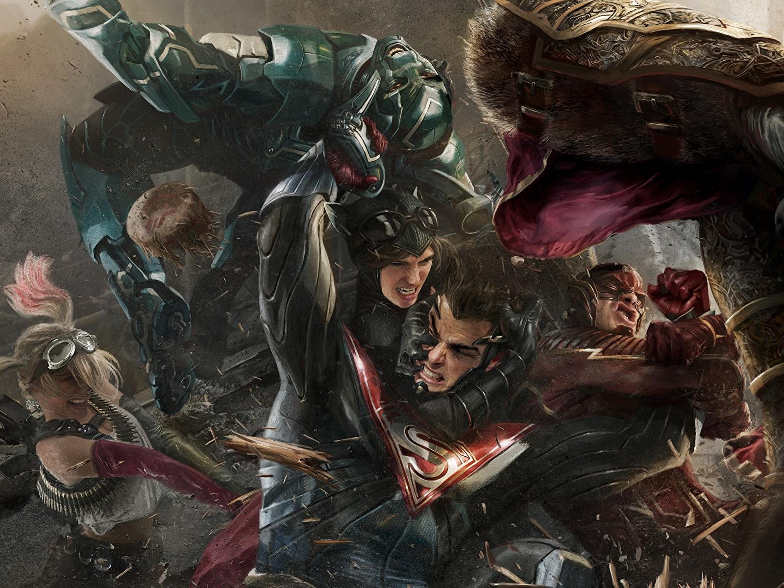 Bilder von Injustice 2 Superhelden Flash Held Superman Held Fantasy Schlägerei computerspiel 1600x1200 Comic-Helden Spiele