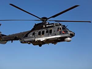 Desktop hintergrundbilder Hubschrauber Airbus H225M MBDA AM39 Exocet Brazilian Navy Luftfahrt