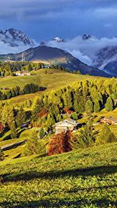 Hintergrundbilder Italien Gebirge Grünland Haus Landschaftsfotografie Dampf Bäume Bellavista