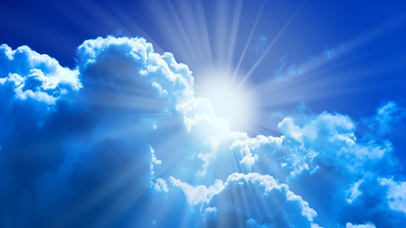 Bilder Lichtstrahl Natur Sonne Himmel Wolke 1366x768