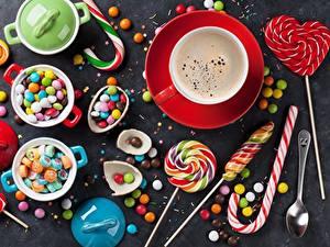 Fotos Dauerlutscher Bonbon Süßigkeiten Kaffee Tasse