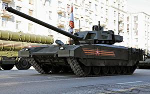 Papéis de parede Carro de combate Feriados Dia da Vitória 9 de maio Desfile militar Russo T-14 Armata Exército