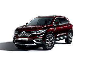 Pictures Renault White background Wine color 2019 Koleos Worldwide Cars