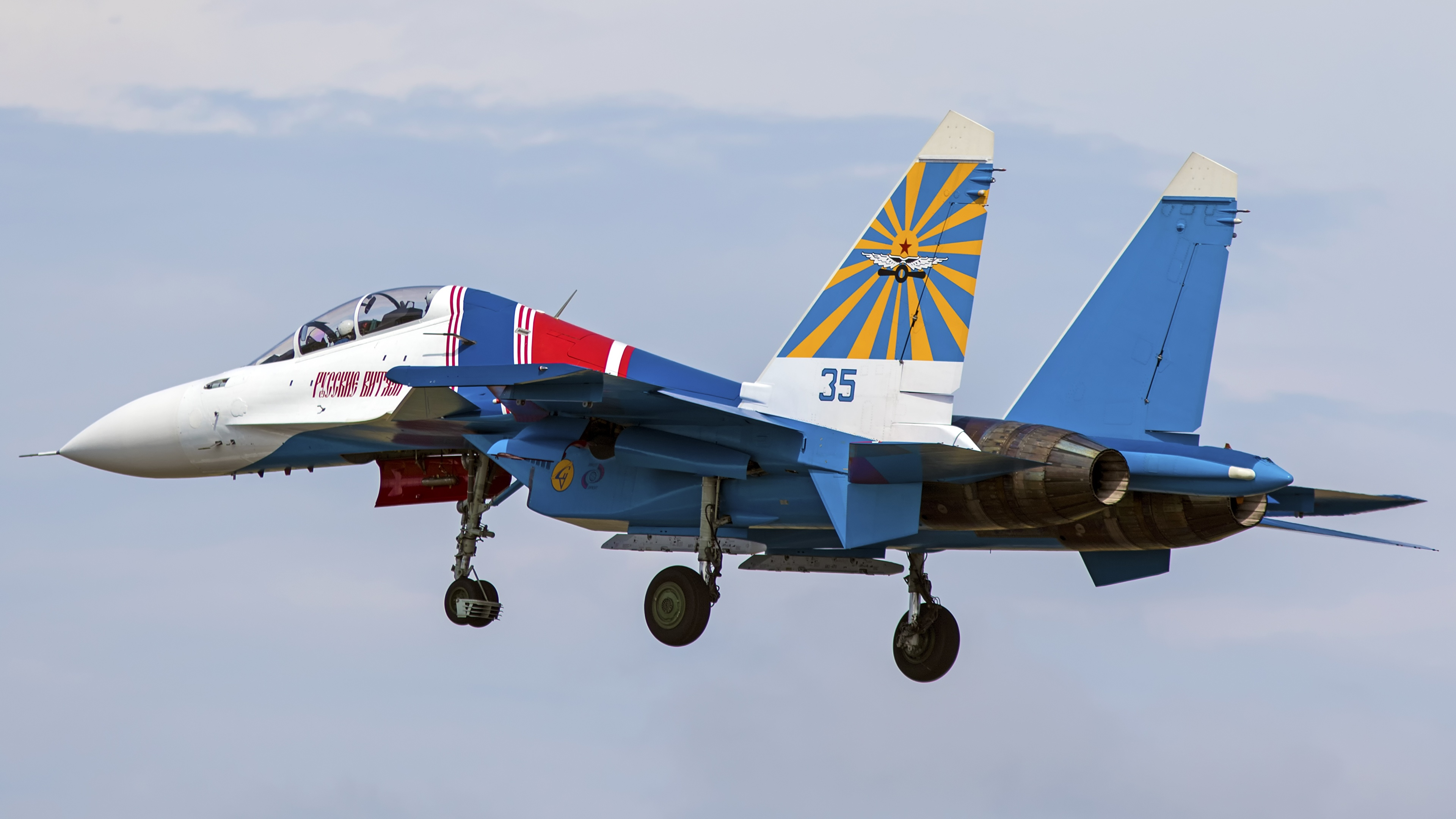 Wallpaper Sukhoi Su-30 Fighter Airplane Airplane takes off 3840x2160
