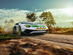 Hintergrundbilder Lamborghini Bewegung LP750-4 SV Alitalia Tribute THOMAS VAN ROOIJ