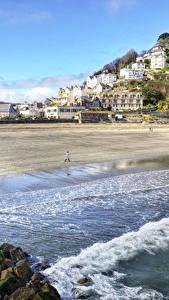 Hintergrundbilder England Haus Küste Wasserwelle Stein Hügel Looe