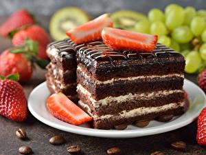 Hintergrundbilder Süßware Törtchen Erdbeeren Kaffee Teller