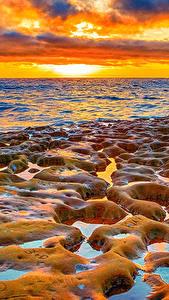 Bilder USA Sonnenaufgänge und Sonnenuntergänge Meer Küste Kalifornien Natur