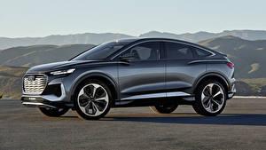 Fotos Audi Sportschuhe Metallisch Seitlich Q4 Sportback e-tron Concept, 2020 automobil