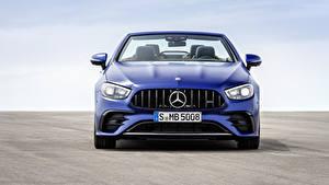 Bilder Mercedes-Benz Cabrio Blau Metallisch Vorne E 53 4MATIC, Cabrio Worldwide, A238, 2020