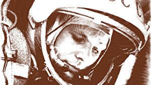 Photo Astronaut Yuri Gagarin Helmet USSR Celebrities