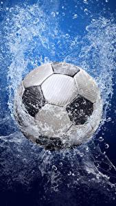 Fondos de Pantalla Fútbol Pelota Salpicaduras Deporte