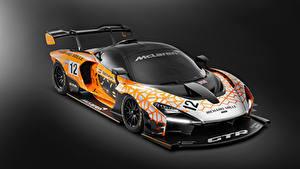 Papel de Parede Desktop McLaren Tuning Fundo cinza 2018 Senna GTR Concept carro