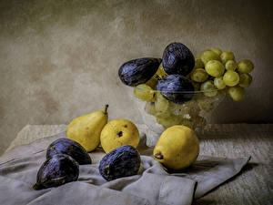 Hintergrundbilder Stillleben Weintraube Echte Feige Birnen