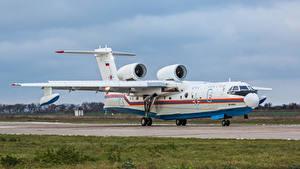 Desktop hintergrundbilder Flugzeuge Russischer Wasserflugzeug Be-200CHS Luftfahrt
