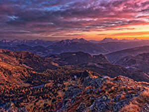 Hintergrundbilder Österreich Berg Morgendämmerung und Sonnenuntergang Landschaftsfotografie Alpen