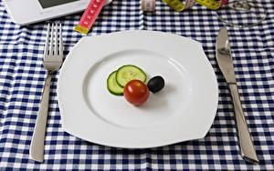 Fotos Messer Tomate Essgabel Teller