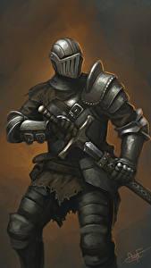 Fotos Ritter Rüstung Schwert Helm Fantasy