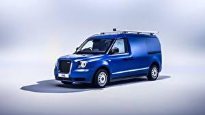 Fotos Blau Metallisch Kleintransporter LEVC VN5, 2020 Autos