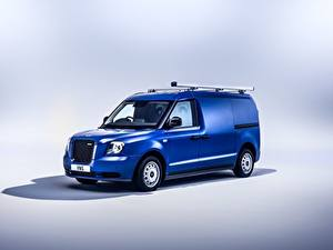 Wallpaper Blue Metallic Van LEVC VN5, 2020 Cars